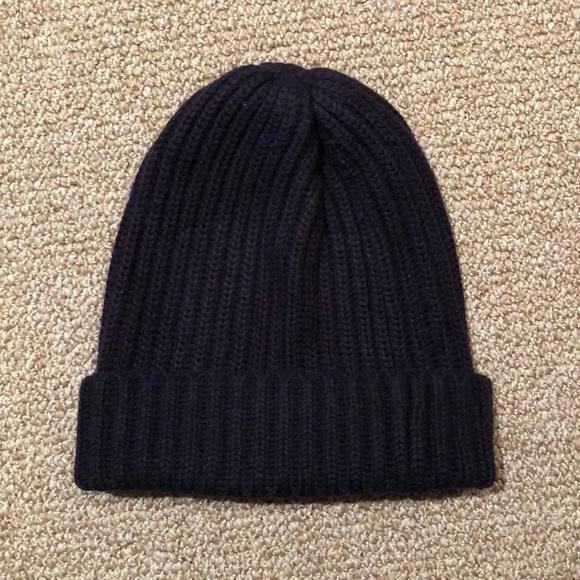 aad3f68ab4d3c Uniqlo Heattech Knit Beanie Hat Navy Blue